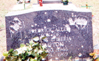 Bullet Riddled Tombstone Of Chairman Fred Hampton Sr. R.B.G.  Lets Get Free !!!