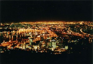 Capetown, Azania (South Africa) at night